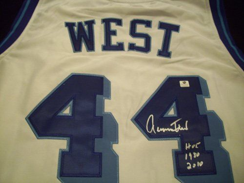 best sneakers 22f01 dee98 GAI Authentic Jerry West Autograph Throwback White Los ...