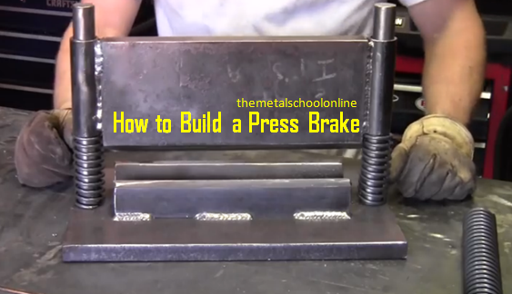 [Video] DIY Press Brake With Scrap Metal And Simple Shop