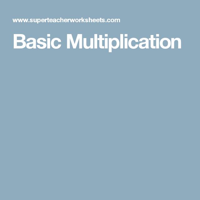 Basic Multiplication | @skool--STEM/ Math | Pinterest ...