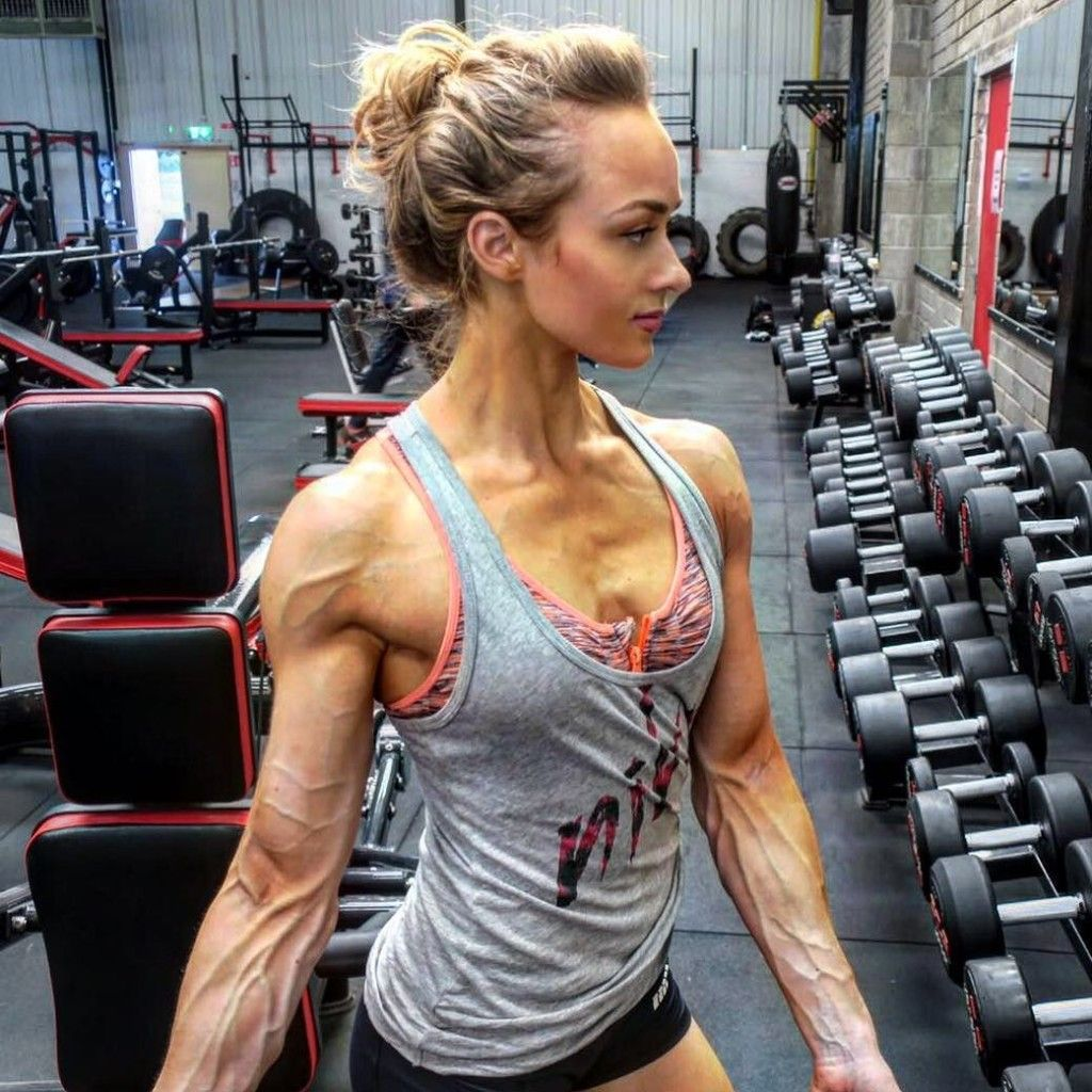 veiny female bodybuilder arms | The Veinity of Women