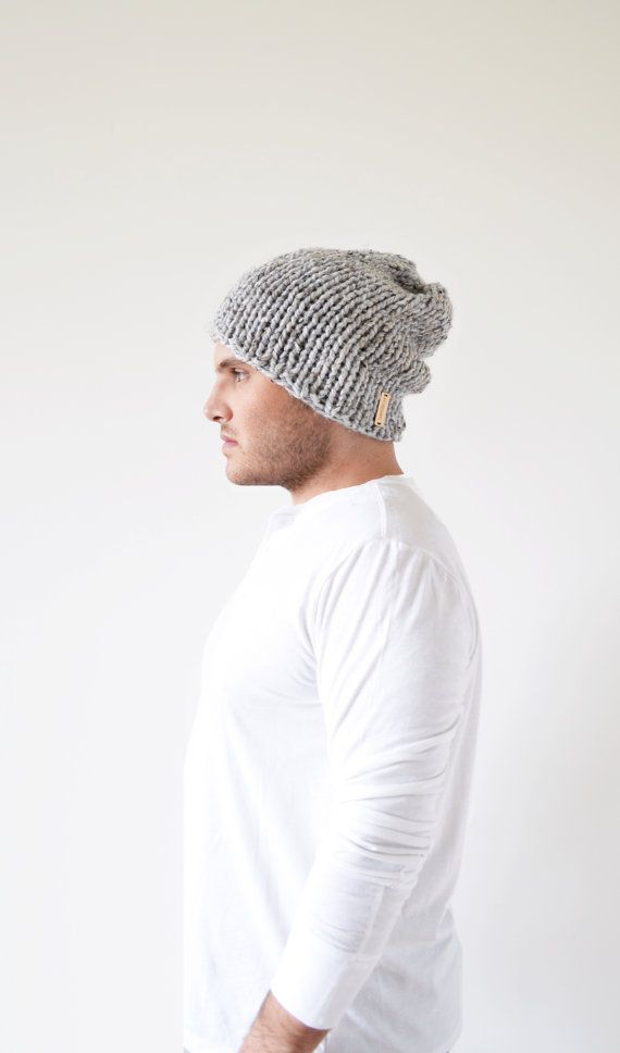 slouchy men\'s beanie . mens slouchy hat . mens knit by TARSTITCH ...