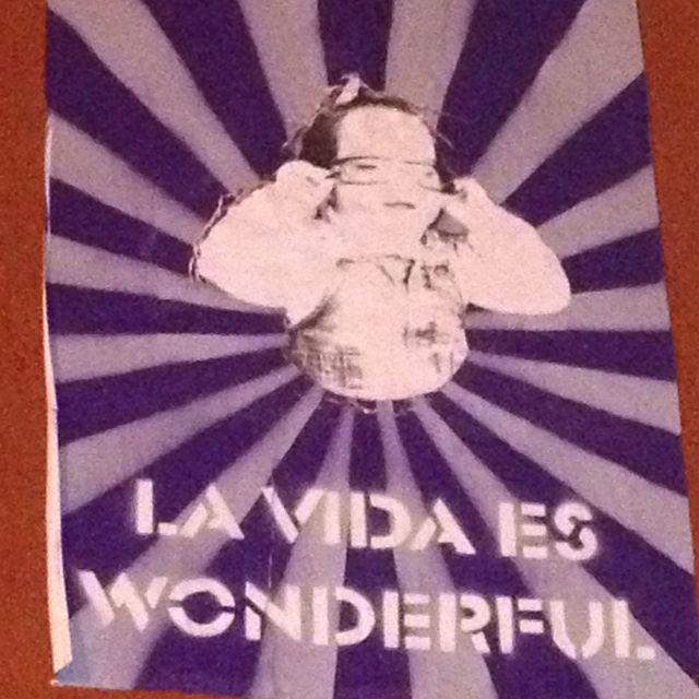 Cartel en la calle de Madrid