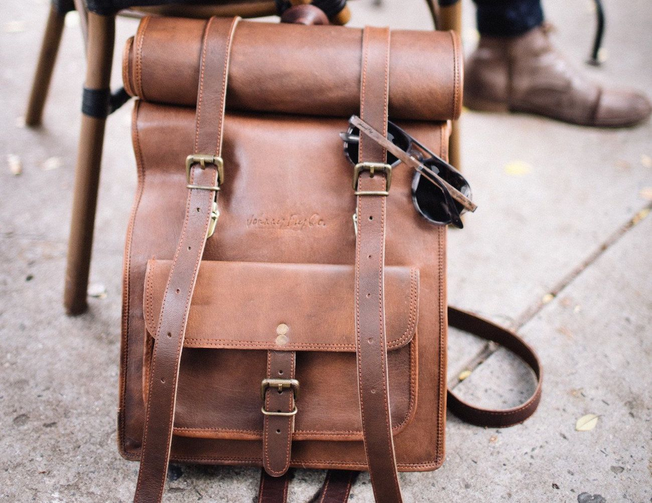 Leather Rolltop Backpack by Johnny Fly Co | Trips, The office and ...