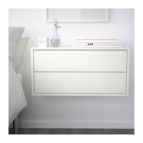 Eket Cabinet With 2 Drawers White Floating Nightstands Ikea