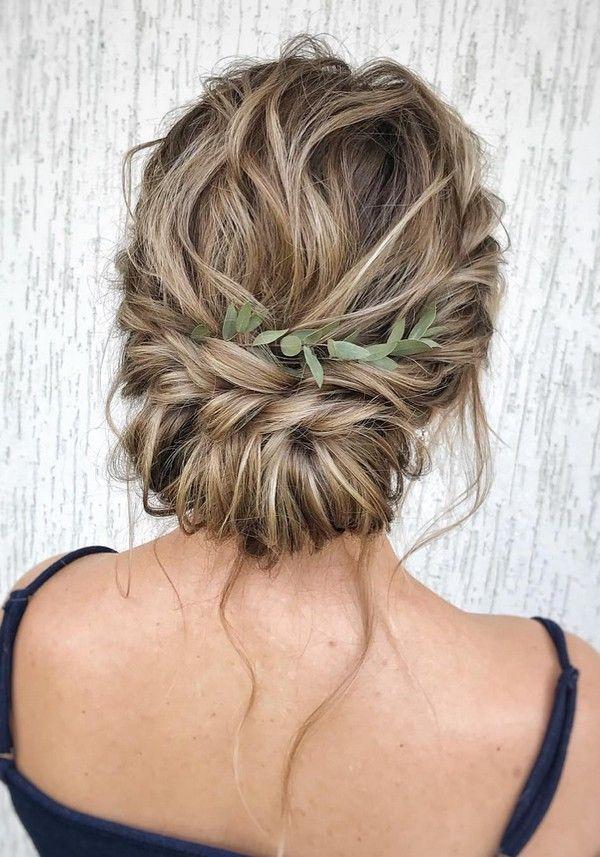 20 Messy Chignon Bun Wedding Updo Hairstyles