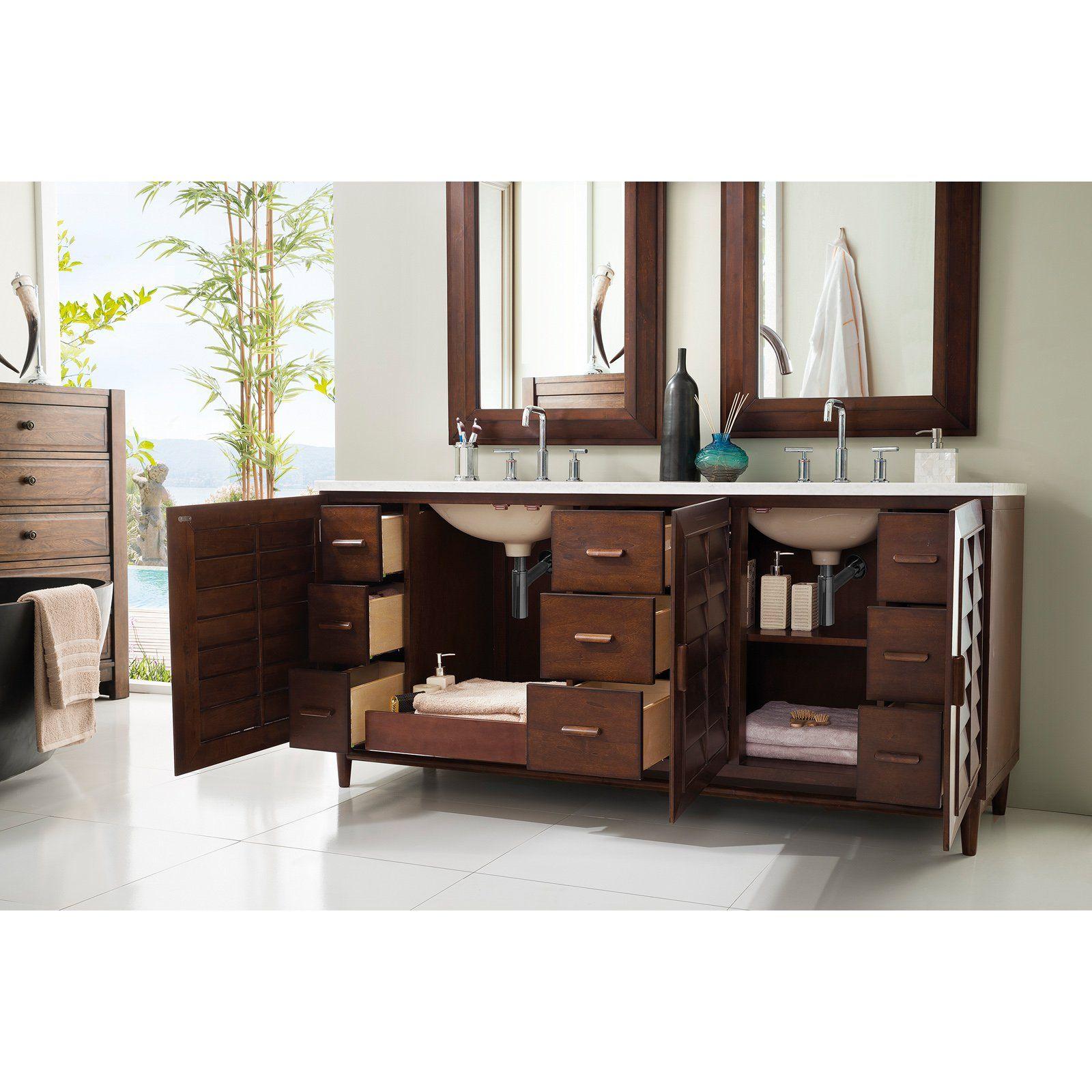 James Martin Furniture Portland 72 in Double Vanity 620 V72 BNM