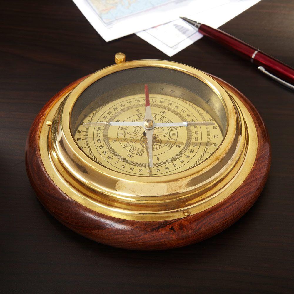 Northern Star Brass Desk Compass Brass Desk Unique Gifts For