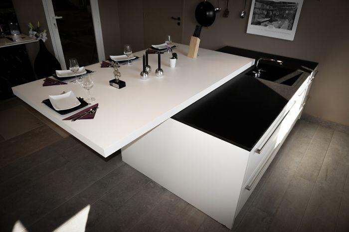 Plan de travail marbre granit St Etienne, Table rétractable - plan de travail de cuisine