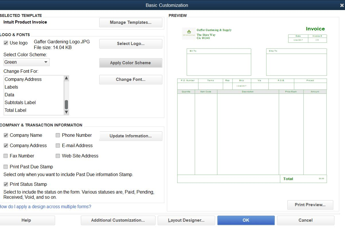 How To Customize Invoice Templates In Quickbooks Pro Inside How To Change Invoice Template In Quickbooks Be Invoice Template Quickbooks Pro Business Template