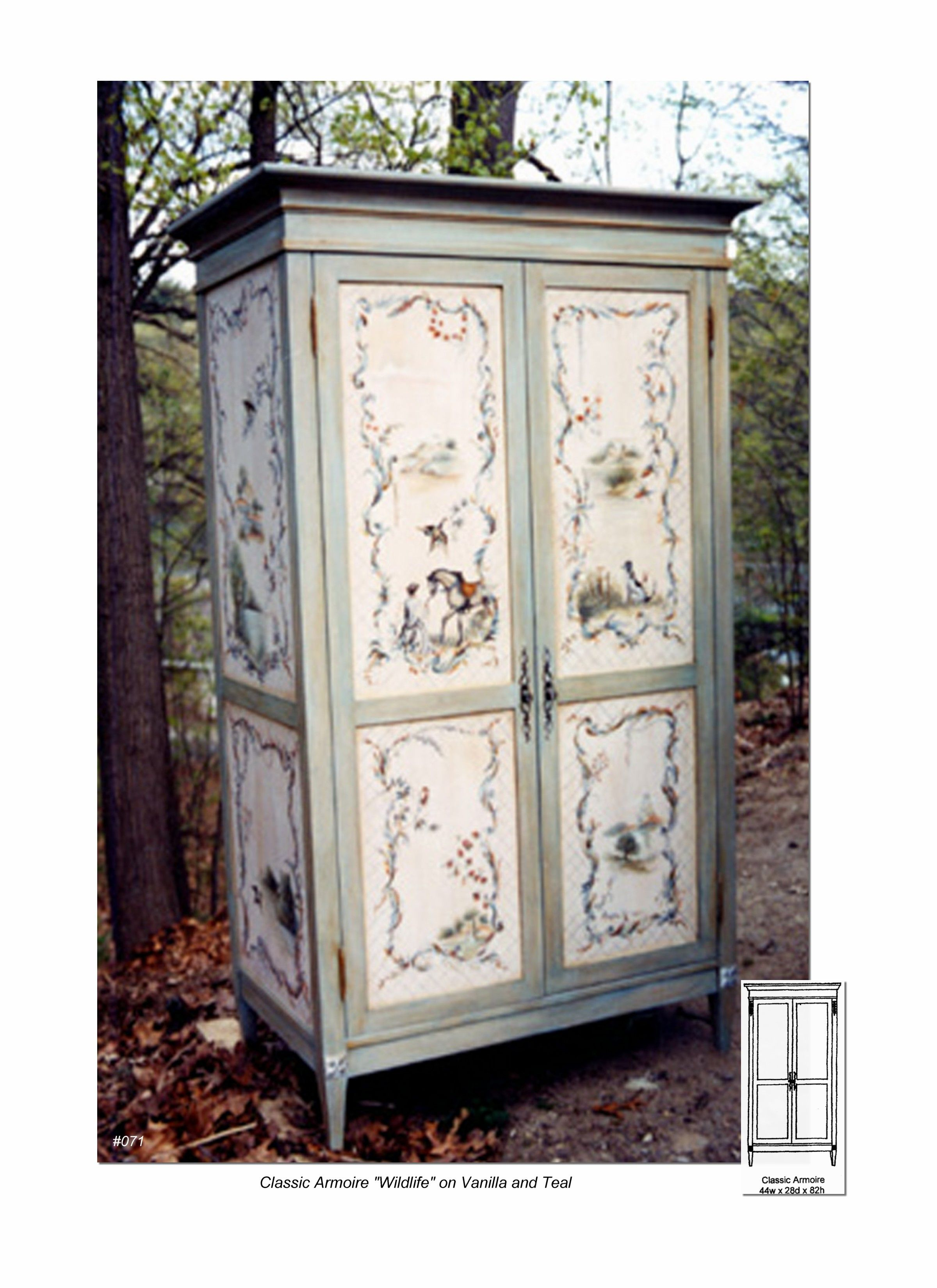 Gentil Colonial Armoire   Armoire, Entertainment Centers, Painted Armoires, Hand Painted  Furniture Http: