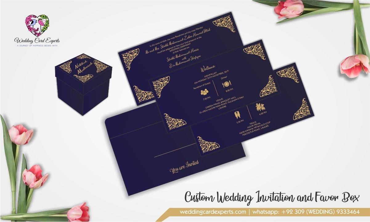 quite simple yet unique custom wedding invitation