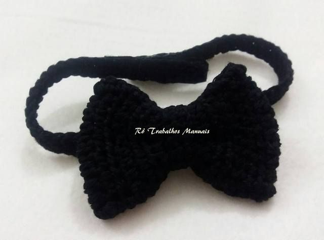 Gravata Borboleta de Crochê!!