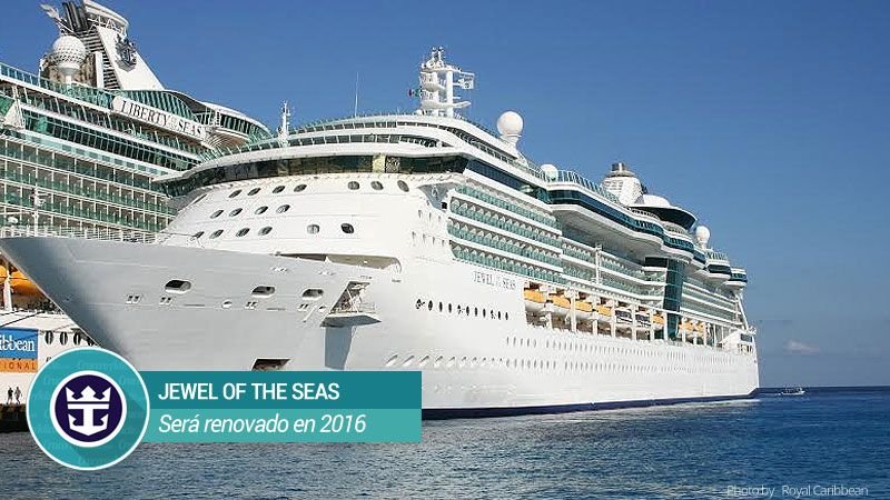 Royal Caribbean apuesta por la mejor experiencia en todos los barcos de su flota. En 2016 invertirá 30 M para la renovacion del Jewel Of The Seas.