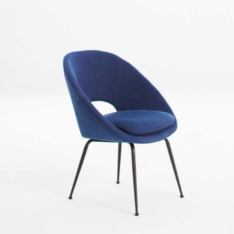 Incredible Orb Dining Upholstered Chair Basket Slub Sapphire Antique Machost Co Dining Chair Design Ideas Machostcouk