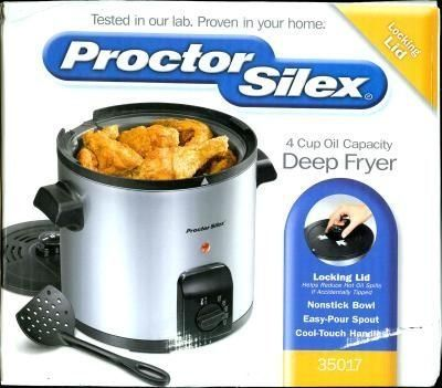 Delightful Deep Fryer,4 Cup,Cool Touch