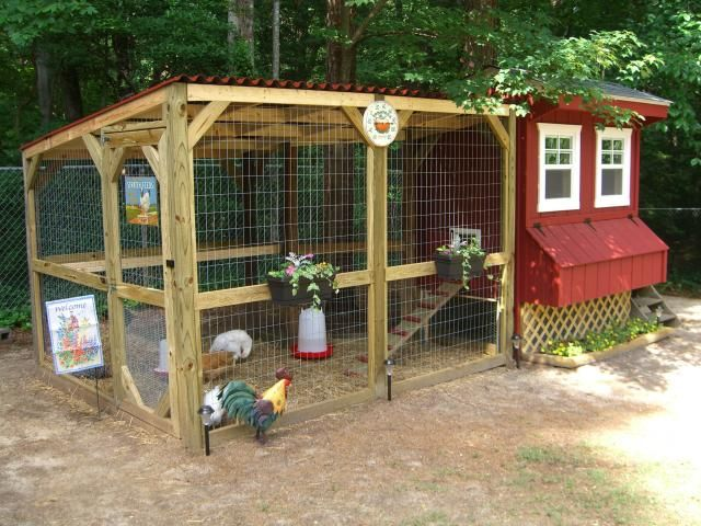 40 best chicken coop design awesome backyard poultry for Chicken enclosure ideas