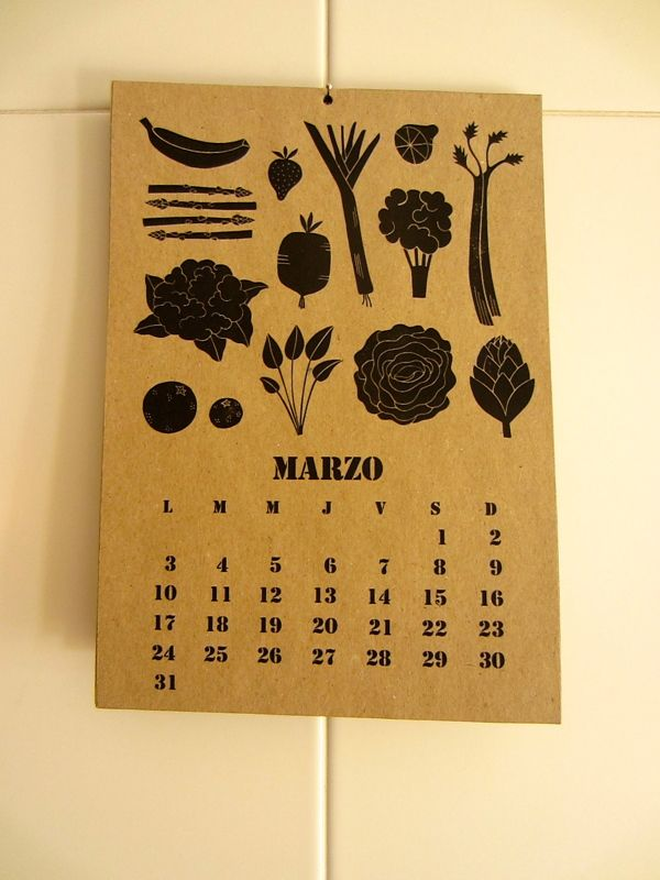 Calendario de Temporada 2014 by Liuna Virardi, via Behance