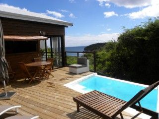 Tipayoune magnifique bungalow entre ciel et mer piscine - Bungalow guadeloupe piscine privee ...