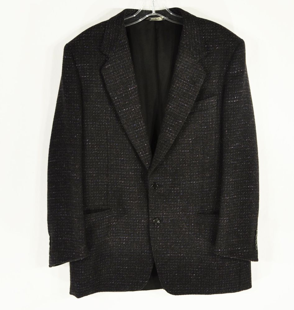 #Canali Blazer Black #SportCoat #Wool #Silk #Camel hair US 42R 52R EU #ShopClaudias $79.99