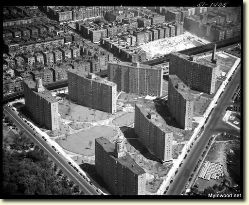 Dyckman Houses Projects. The public housing complex was built in 1951 and consists of seven 14-story buildings with 1,167 apartments housing an estimated 2,580 residents.