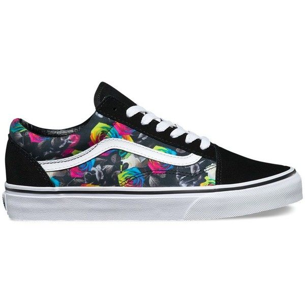 86344e7ba483 Vans Rainbow Floral Old Skool ( 65) ❤ liked on Polyvore featuring shoes