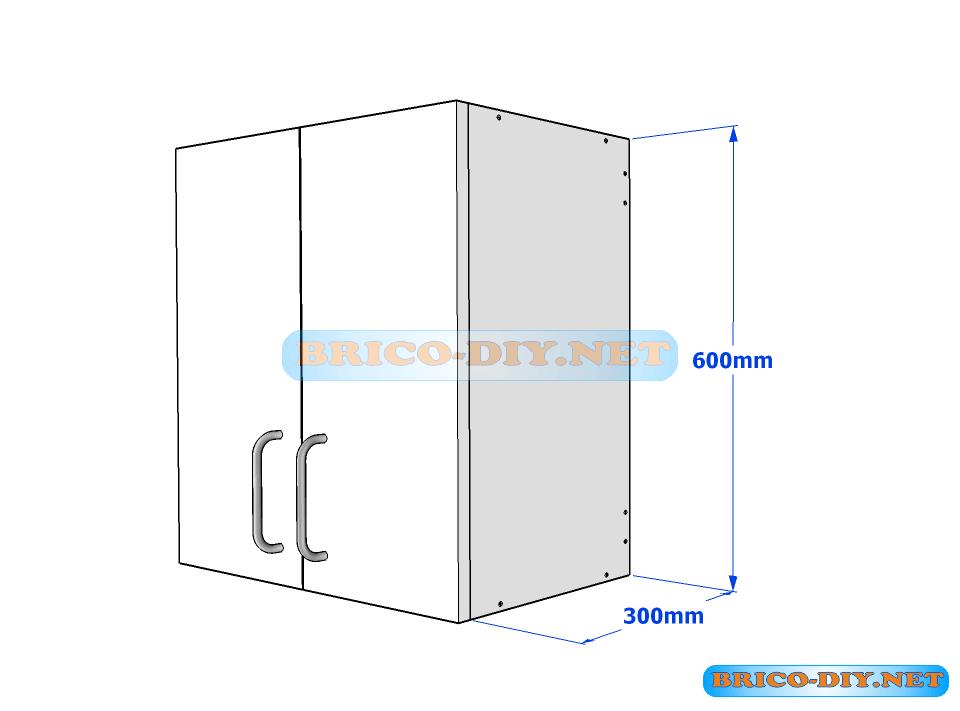 Muebles de cocina plano de alacena de melamina esquinera for Planos de melamina