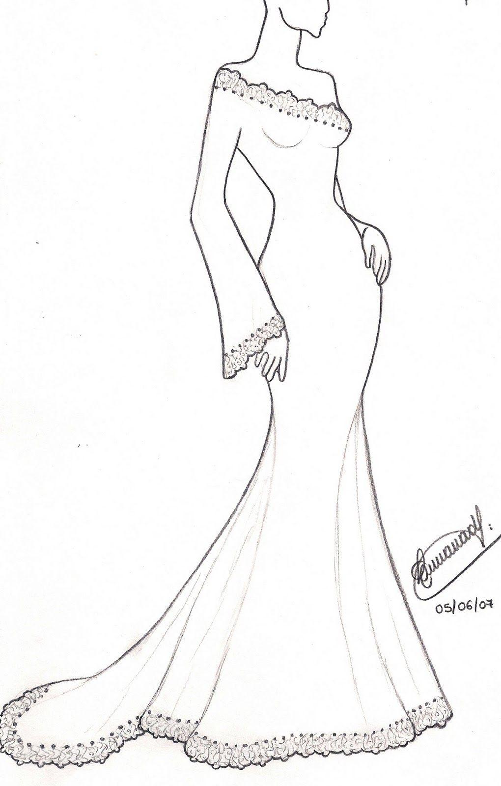 Resultado De Imagen Para Desenhos De Vestidos De Estilistas Tomara