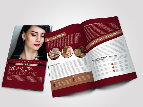 download 4 pages salon bi fold brochure creativework247 templates