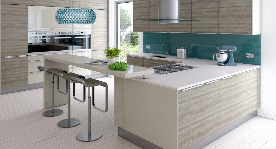 Mesmerizing Kitchen With Driftwood Finish Cabinetry ...