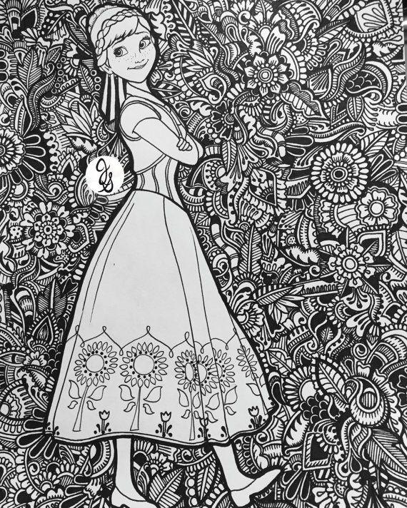 Frozen Design By Byjamierose On Etsy Ausmalbilder Disney