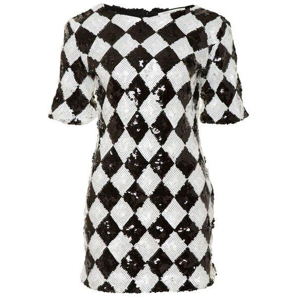 Glamorous Harlequin Dress (130 BRL) ❤ liked on Polyvore featuring dresses, black, harlequin dress, glamorous dresses, cotton dress and high-low dresses