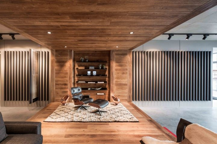 Hakwood studio showroom by standard studio kitzbühel austria retail design blog