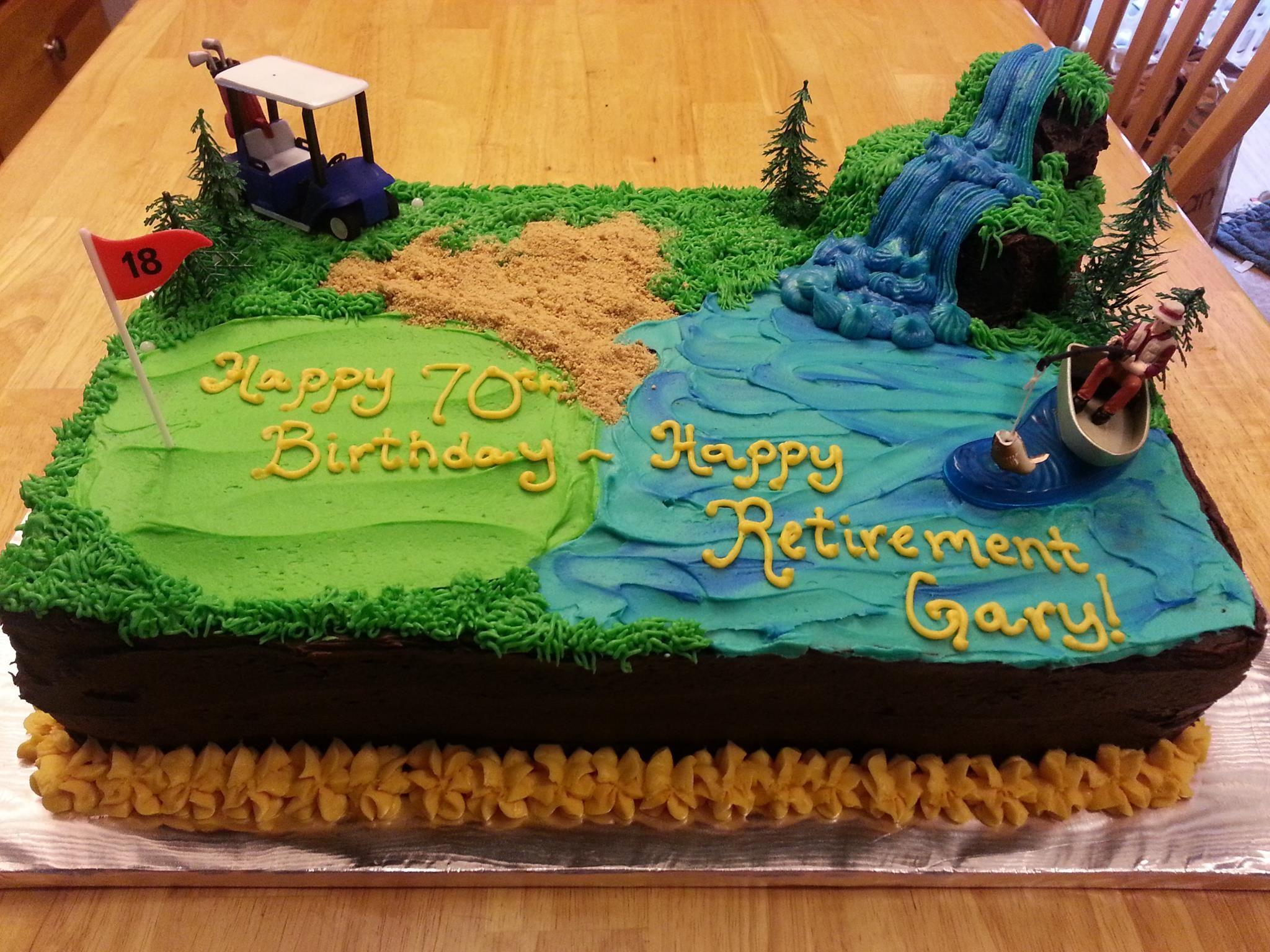 Birthday Retirement Cake