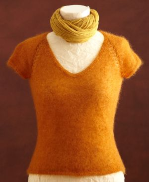 Wear this knit Sunset Raglan Tee over a collared button down shirt for a suitable outfit to wear for the office or interview.