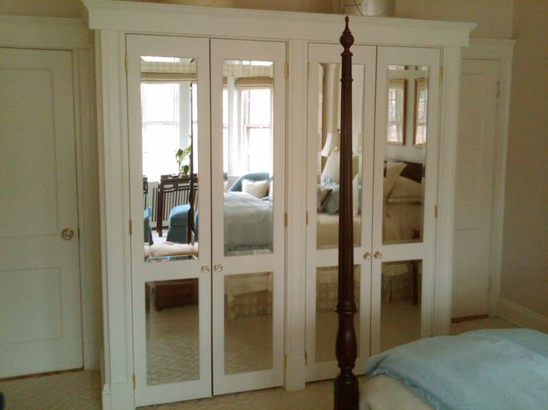 Mirrored Closet Doors Bifold Video And Photos Mirror Closet