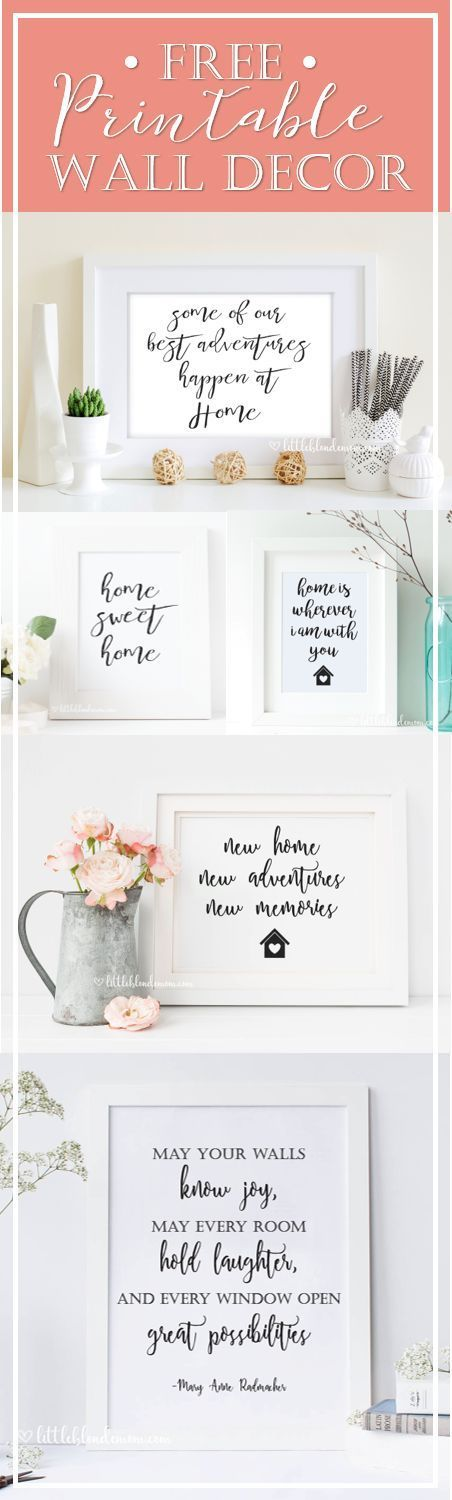 "Photo of Free ""Home"" Printable Decor – little blonde mom"