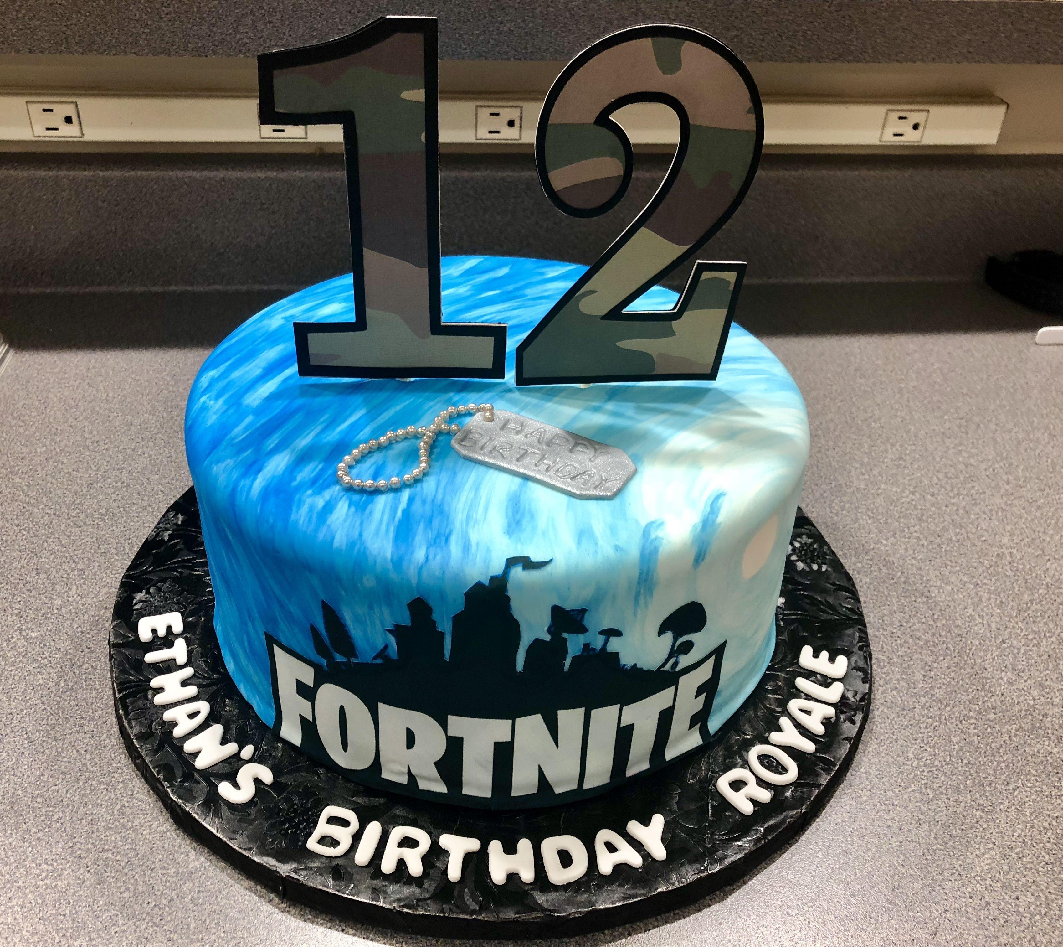 Fortnite Birthday Cake Boy Birthday Cake 12th Birthday Cake Birthday Party Cake