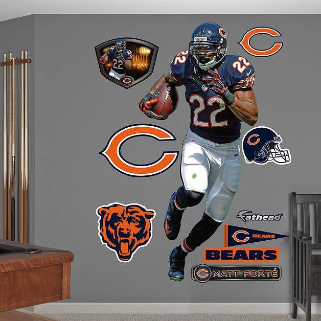 Fathead Chicago Bears Matt Forte Home Wall Graphic   Wall Sticker Outlet Part 39