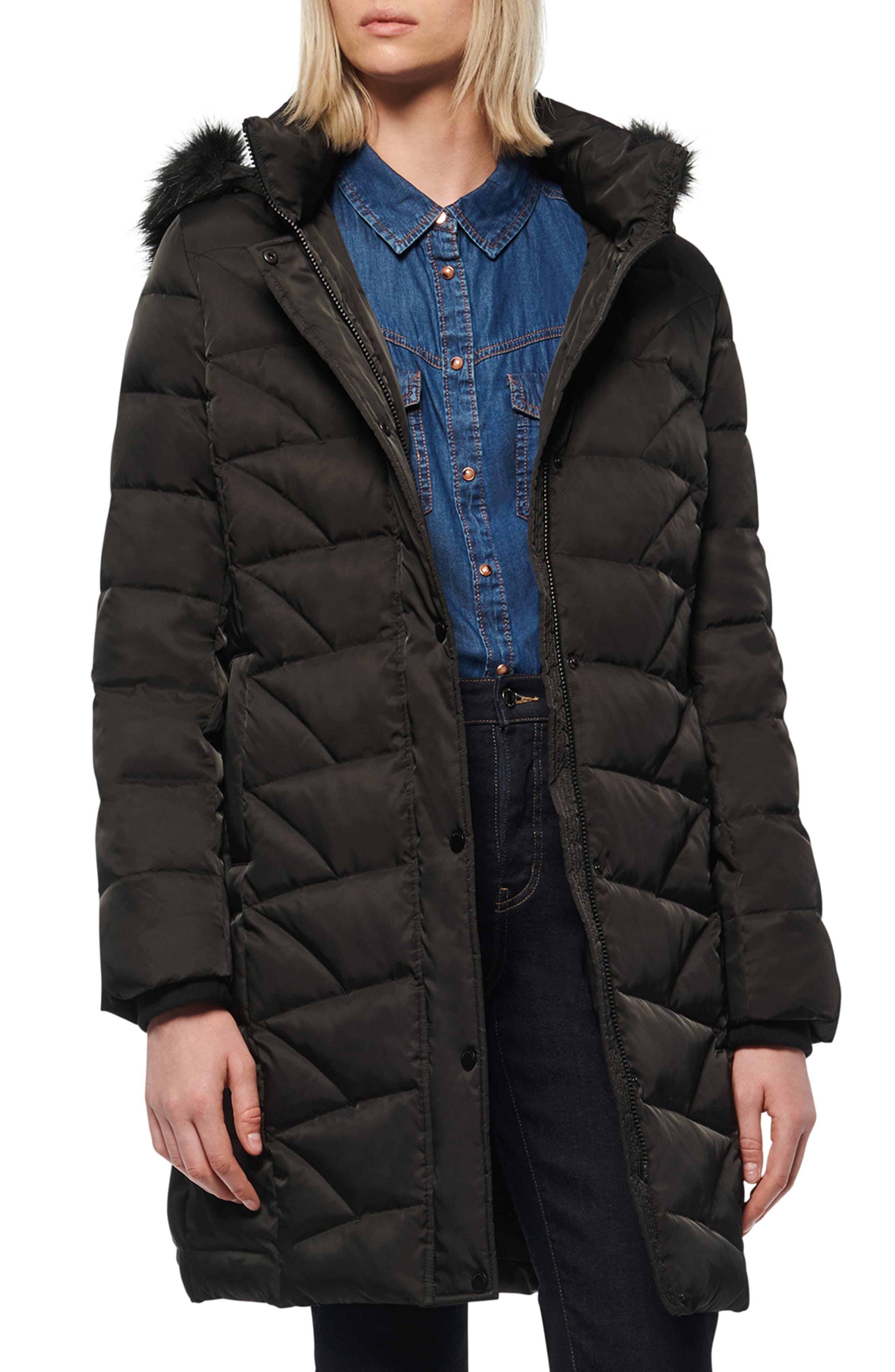 Women S Marc New York Medina Faux Fur Trim Down Puffer Jacket Size Medium Black Women S Puffer Coats Puffer Jacket Women Puffer Jacket Black [ 4048 x 2640 Pixel ]