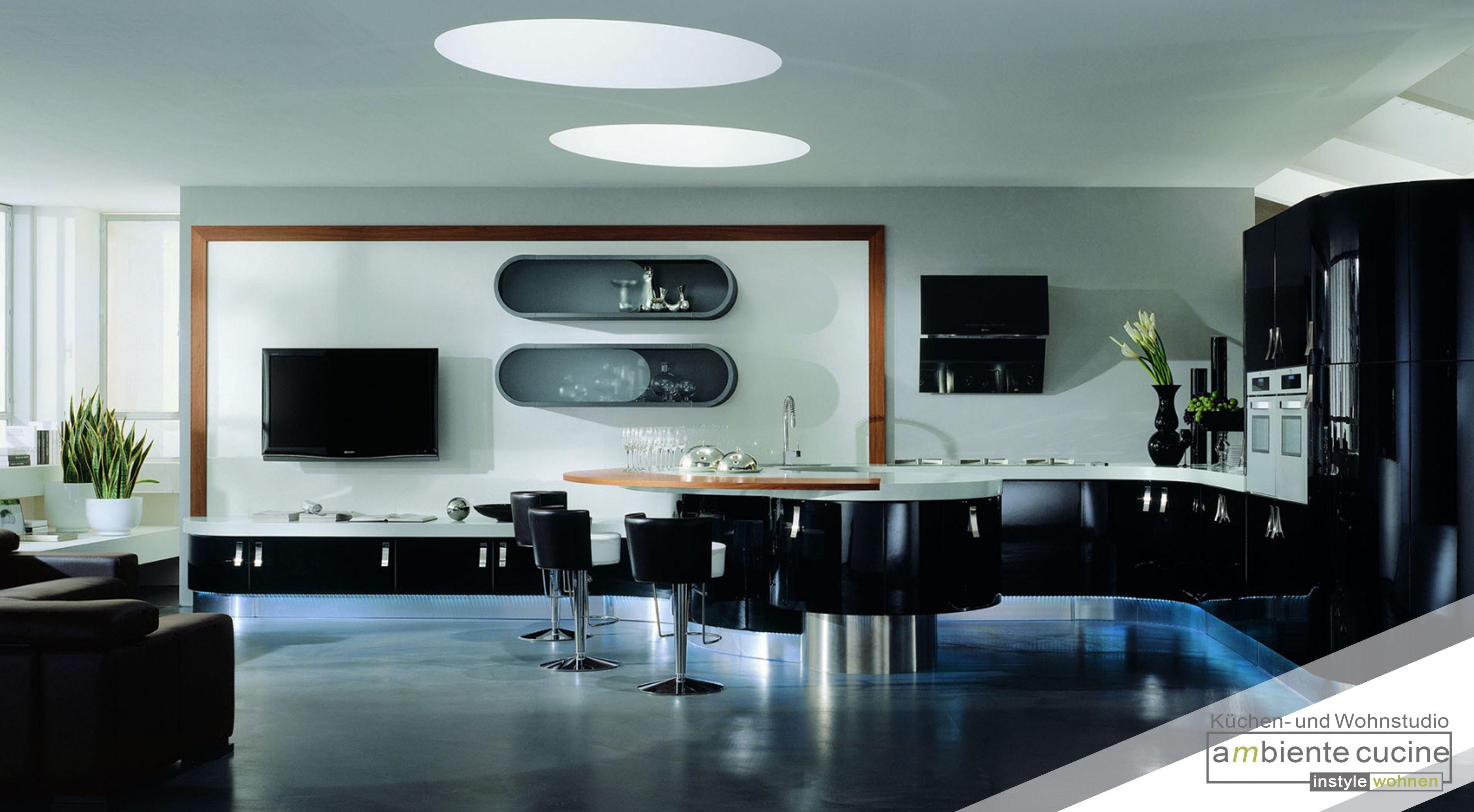 Schwarze Küchen wirken stylish, nobel und elegant. Allerdings kann ...