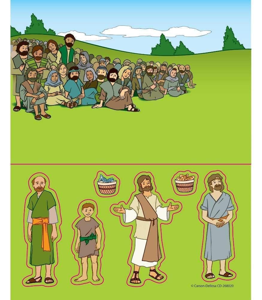 jesus feeds 5000 people sticker craft u2026 pinteres u2026