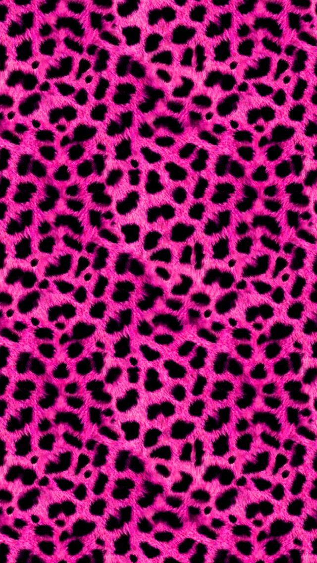 Pink Leopard pattern furry background. iPhone wallpapers