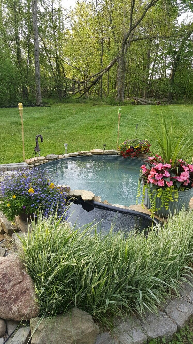 This is our rd year with a stock tank pool low cost and easy