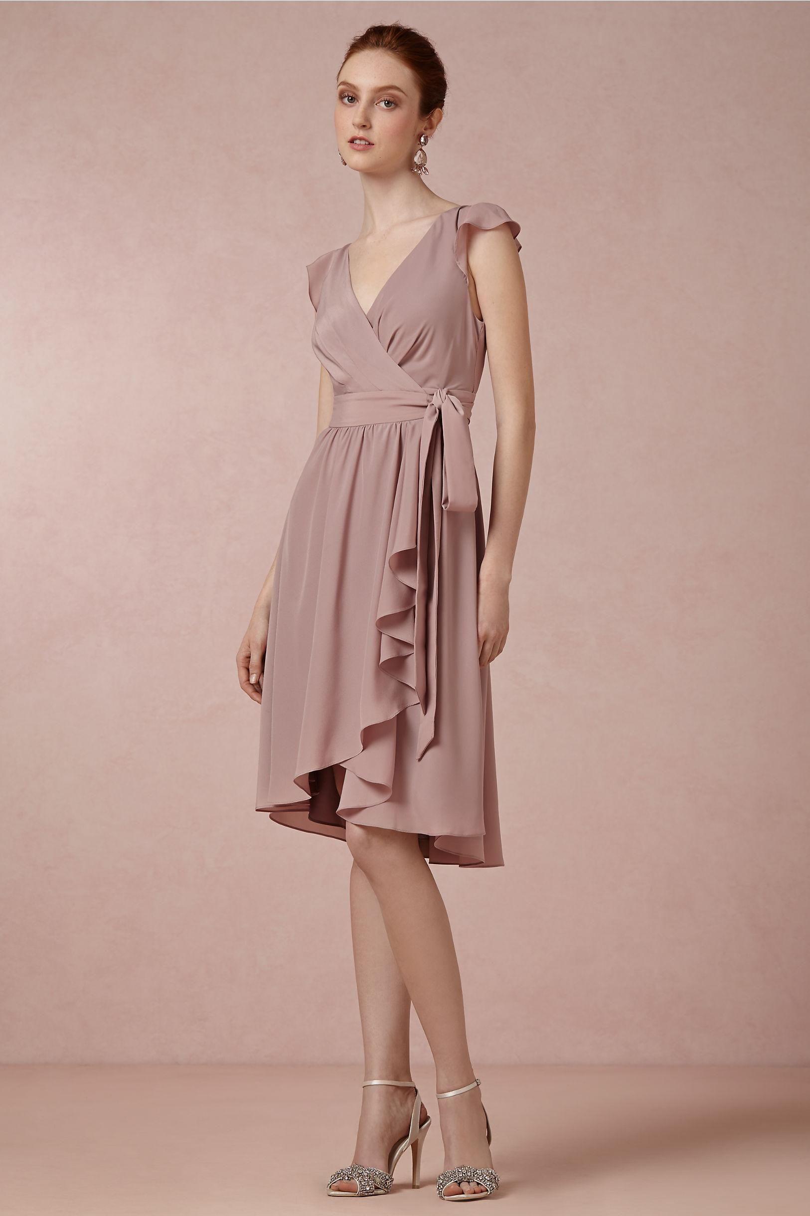 Sydney Bridesmaid Dress in Dusty Mauve from BHLDN | Purple Wedding ...