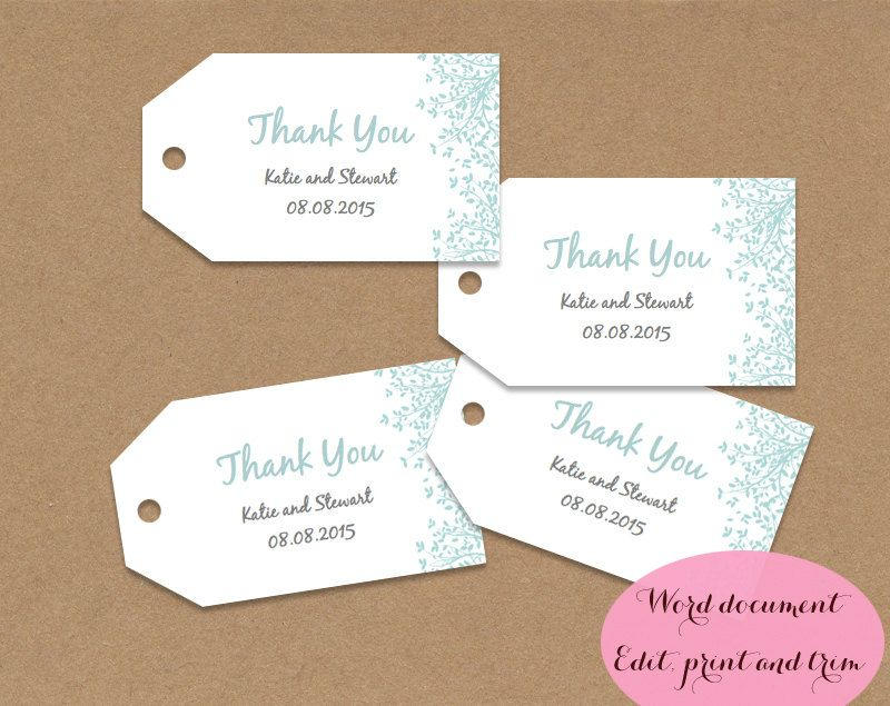 Wedding Favor Tags Template Word Zrom