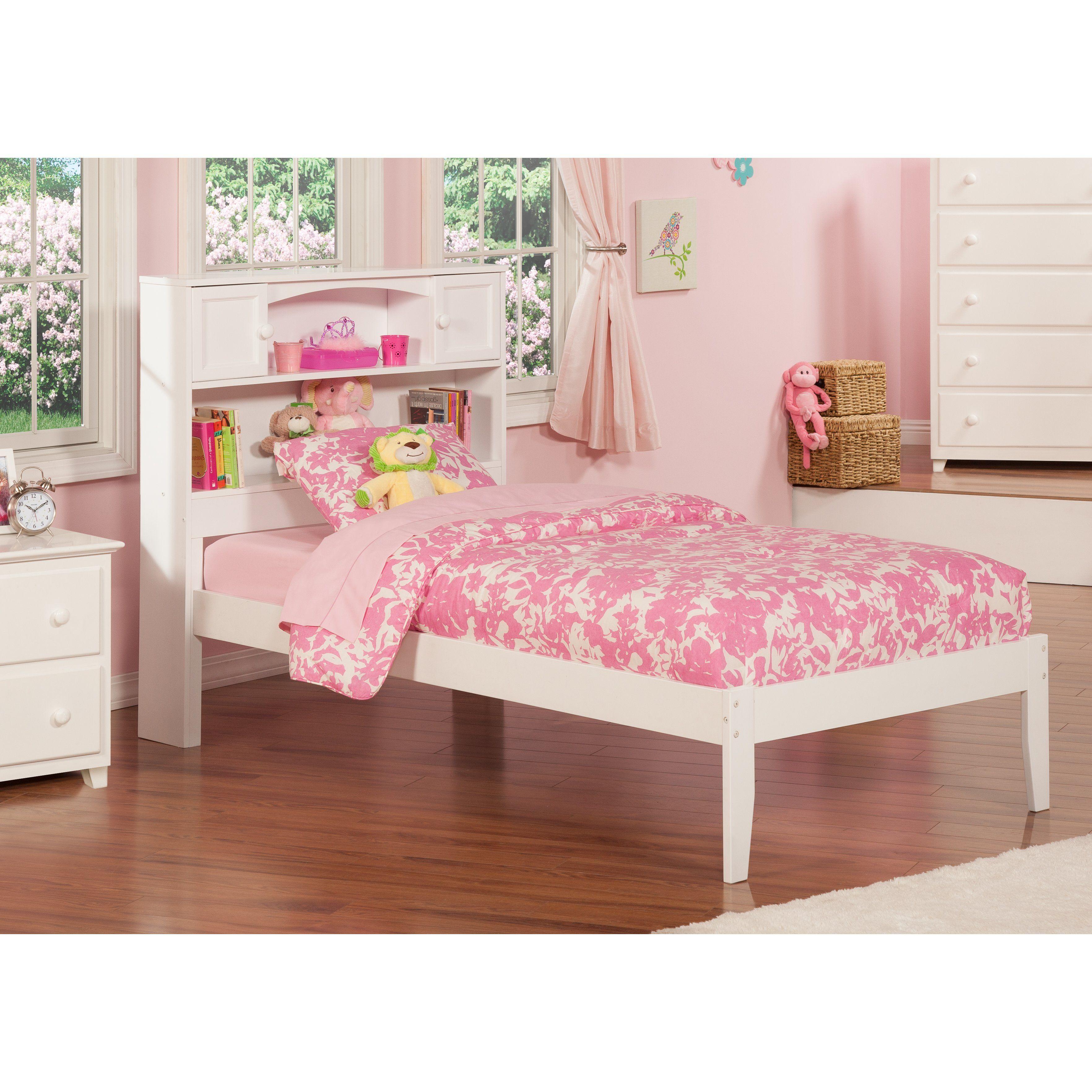 Wasilewski Platform Bed with Bookcase Atlantic furniture
