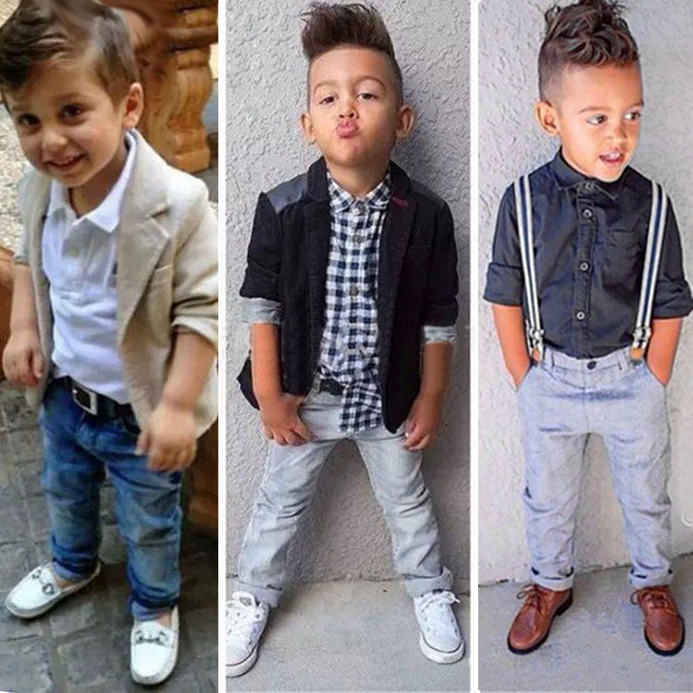 Kids Baby Boys Dress Shirt Blazer Coat Pants Trousers Gentleman Outfits Clothes Kids Dress Boys Boys Dress Shirts Baby Boy Shirts [ 1000 x 1000 Pixel ]