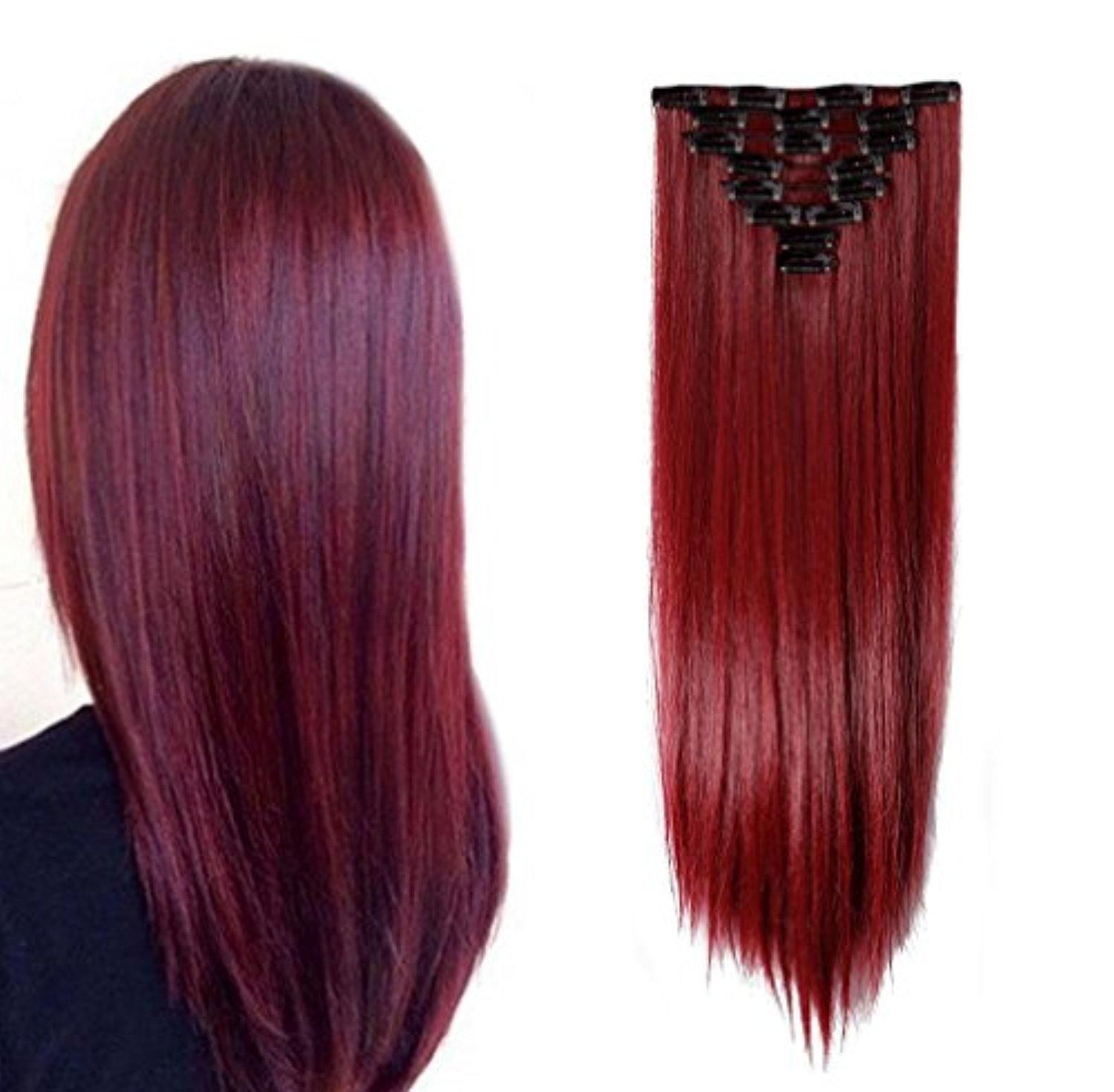 Hairpieces Clip In Synthetic Hair Extensions Japanese Kanekalon
