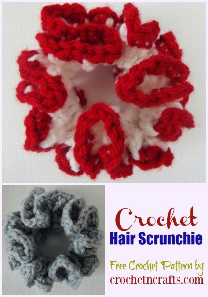 Crochet Hair Scrunchie ~ FREE Crochet Pattern