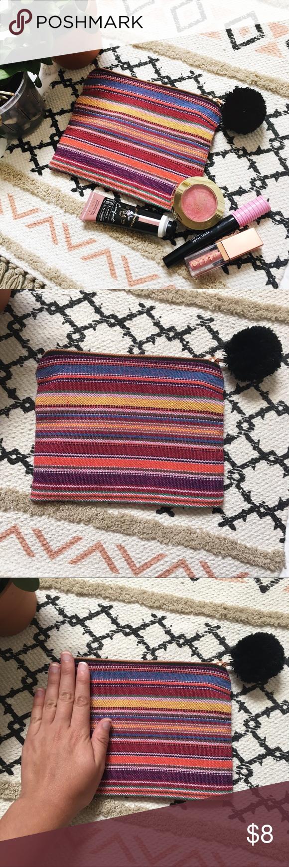 Boho Stripped Makeup Bag/Wallet • Makeup bag, Urban
